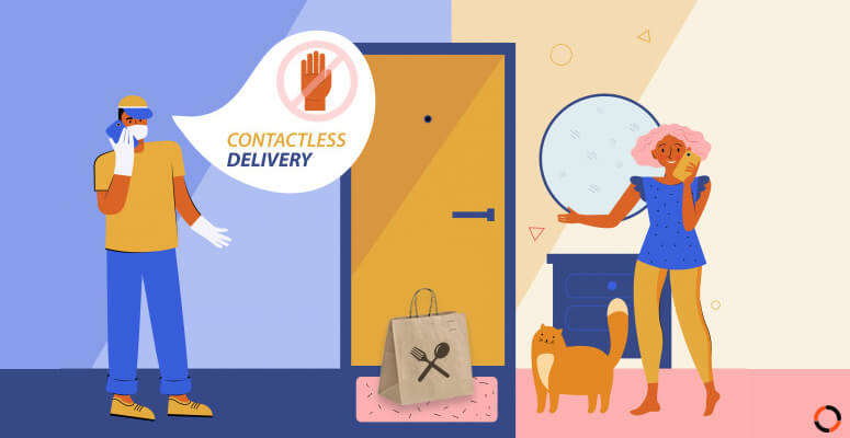 How contactless delivery transforms the restaurant industry during COVID-19 pandemic